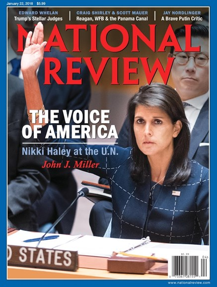 National Review Cover - 1/22/2018