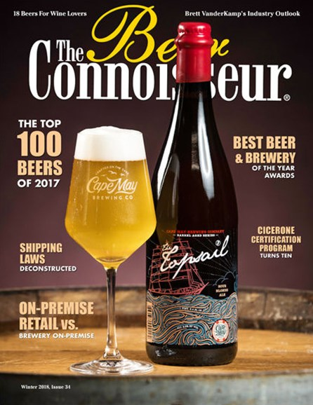 The Beer Connoisseur Cover - 1/1/2018