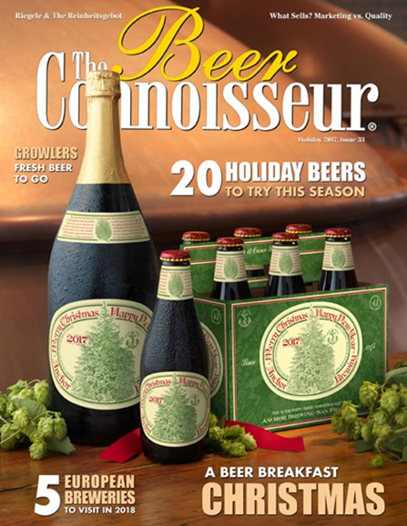 The Beer Connoisseur Cover - 12/1/2017