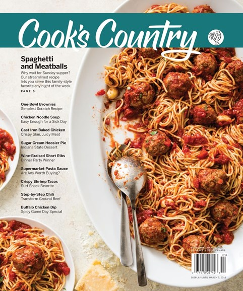 Cook's Country Cover - 2/1/2018