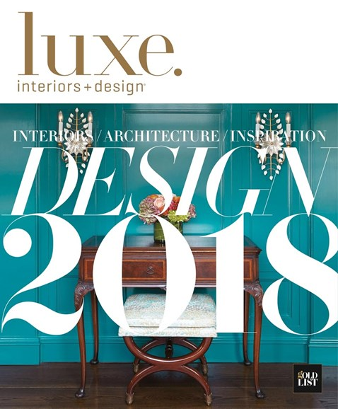 Luxe Interiors & Design Cover - 1/1/2018