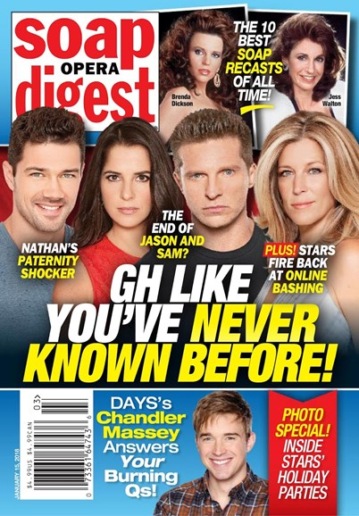 Soap Opera Digest Cover - 1/15/2018