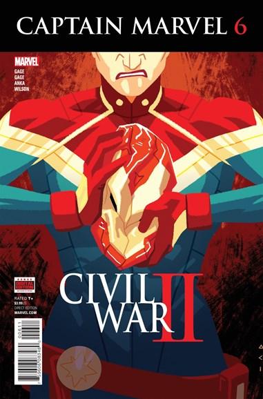 Captain Marvel Cover - 8/1/2016