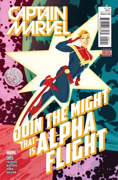 Captain Marvel Cover - 7/1/2016