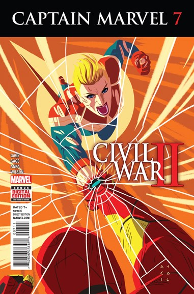 Captain Marvel Cover - 9/1/2016