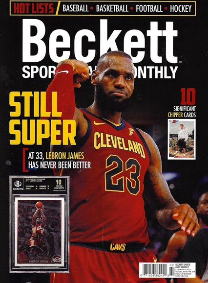 Beckett Sports Card Monthly Cover - 2/1/2018