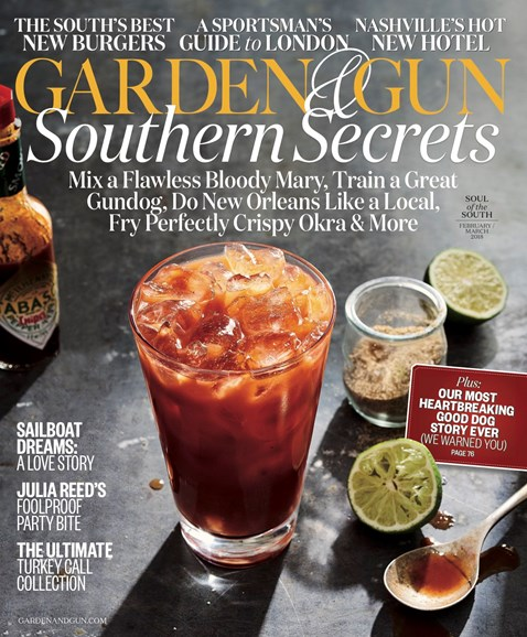 Garden & Gun Cover - 2/1/2018