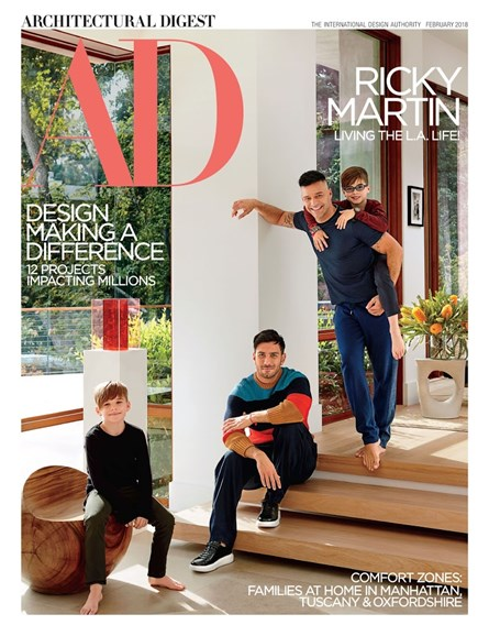 Architectural Digest Cover - 2/1/2018