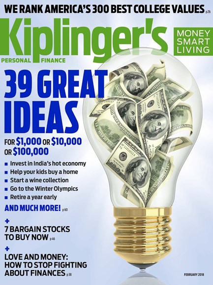 Kiplinger's Personal Finance Cover - 2/1/2018