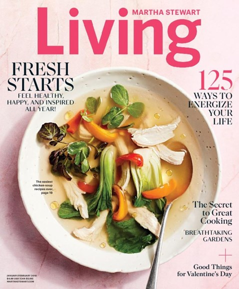 Martha Stewart Living Cover - 1/1/2018