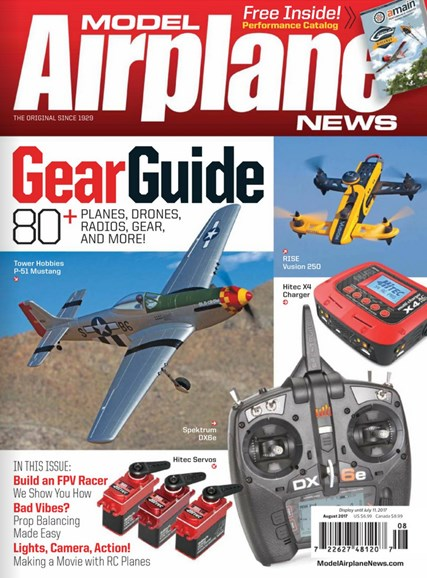Model Airplane News Cover - 8/1/2017