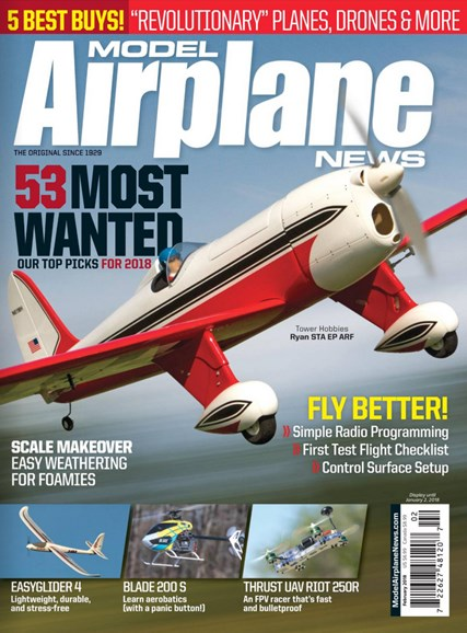 Model Airplane News Cover - 2/1/2018