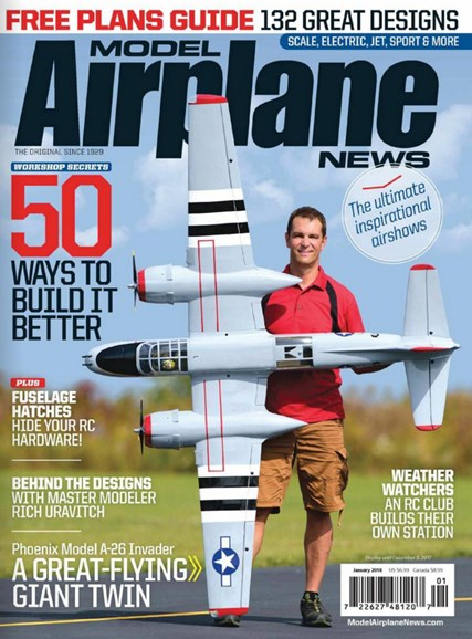 Model Airplane News Cover - 1/1/2018