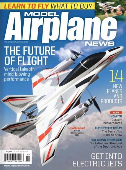 Model Airplane News Cover - 5/1/2017