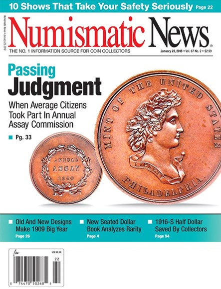 Numismatic News Cover - 1/23/2018