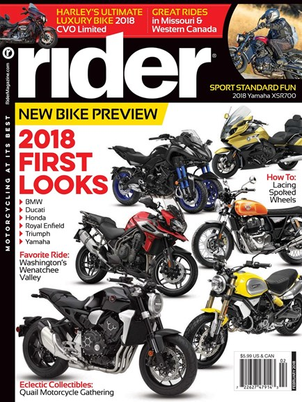 Rider Cover - 2/1/2018