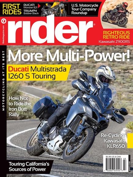 Rider Cover - 3/1/2018
