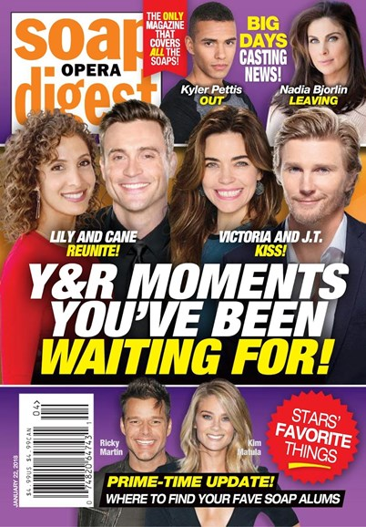 Soap Opera Digest Cover - 1/22/2018