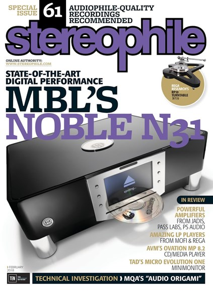 Stereophile Cover - 2/1/2018