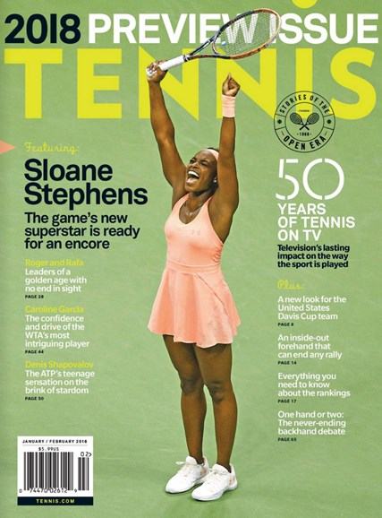 Tennis Magazine Cover - 1/1/2018