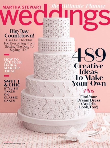 Martha Stewart Weddings Cover - 12/1/2017