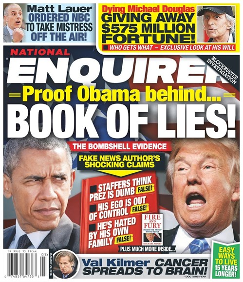 National Enquirer Cover - 1/29/2018