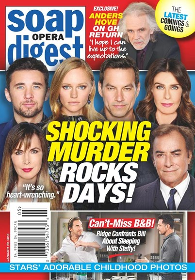 Soap Opera Digest Cover - 1/29/2018