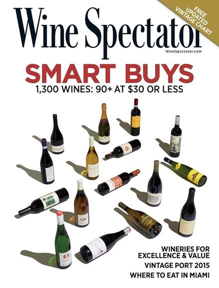 Wine Spectator Cover - 2/28/2018