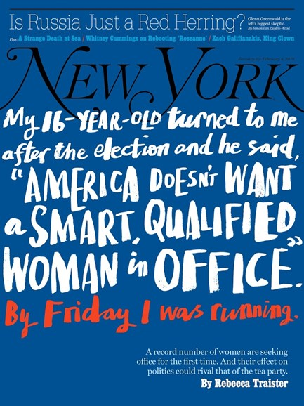 New York Magazine Cover - 1/22/2018
