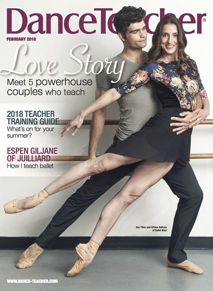 Dance Teacher Cover - 2/1/2018