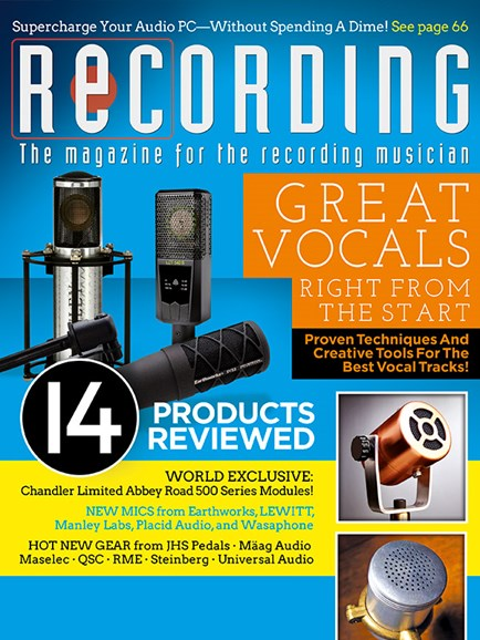 Recording Magazine Cover - 2/1/2018