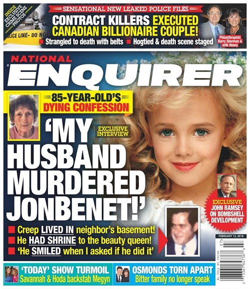 National Enquirer Cover - 2/12/2018