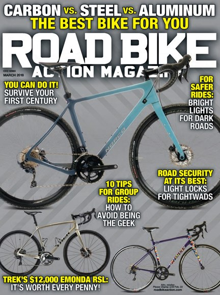 Road Bike Action Cover - 3/1/2018
