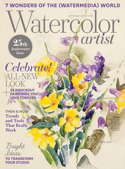 Watercolor Artist Cover - 4/1/2018