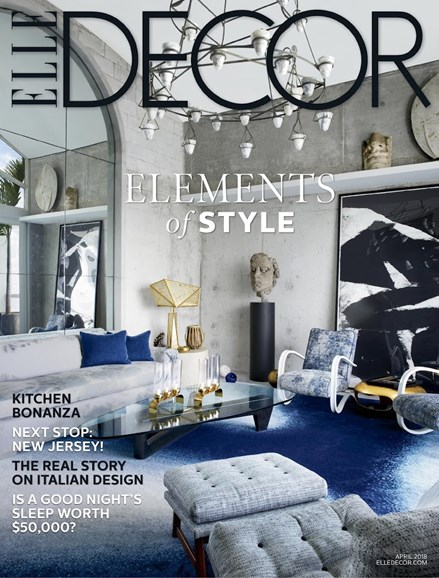 ELLE DECOR Cover - 4/1/2018