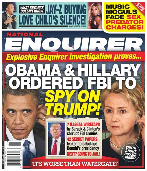 National Enquirer Cover - 2/19/2018