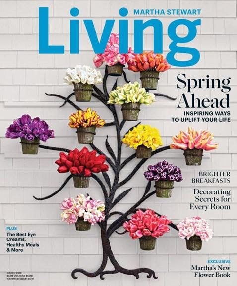 Martha Stewart Living Cover - 3/1/2018