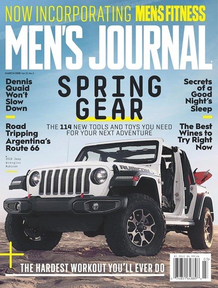 Men's Journal Cover - 3/1/2018