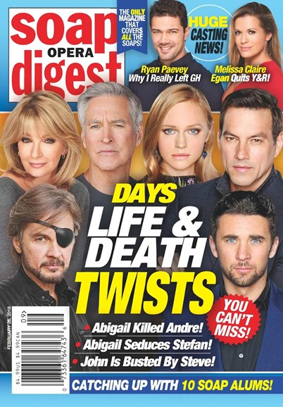 Soap Opera Digest Cover - 2/16/2018