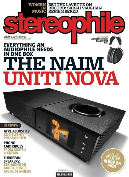 Stereophile Cover - 3/1/2018