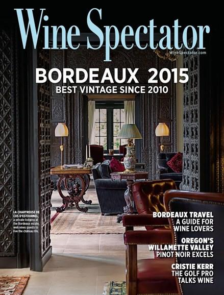 Wine Spectator Cover - 3/31/2018