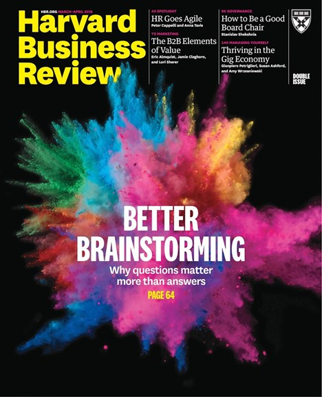 Harvard Business Review Cover - 3/1/2018