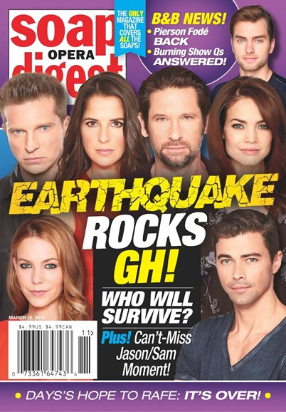 Soap Opera Digest Cover - 3/12/2018