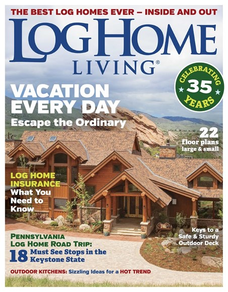 Log and Timber Home Living Cover - 4/1/2018