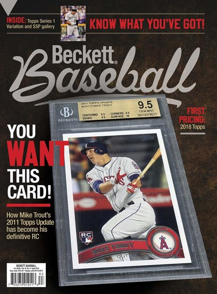 Beckett Baseball Cover - 4/1/2018