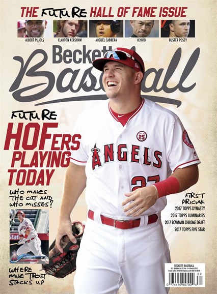 Beckett Baseball Cover - 3/1/2018