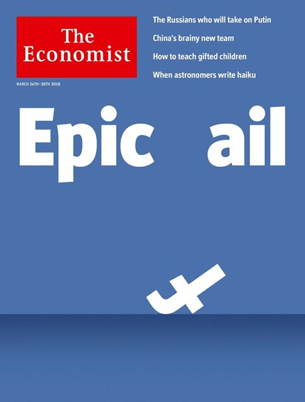 The Economist Cover - 3/24/2018