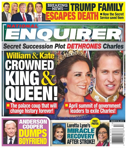 National Enquirer Cover - 3/26/2018