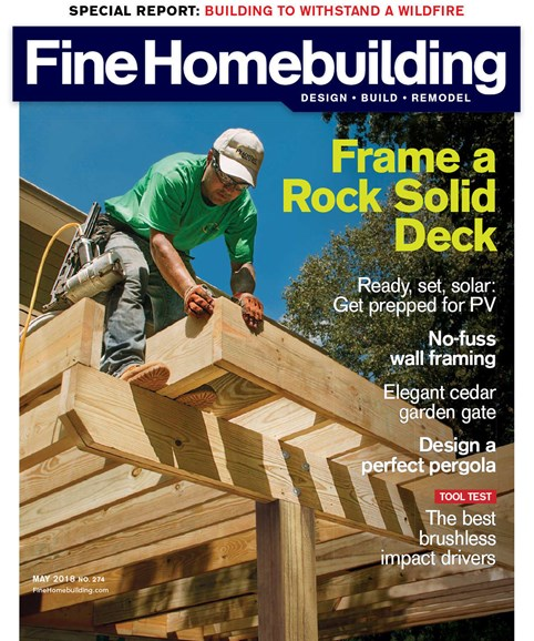 Fine Homebuilding Cover - 5/1/2018