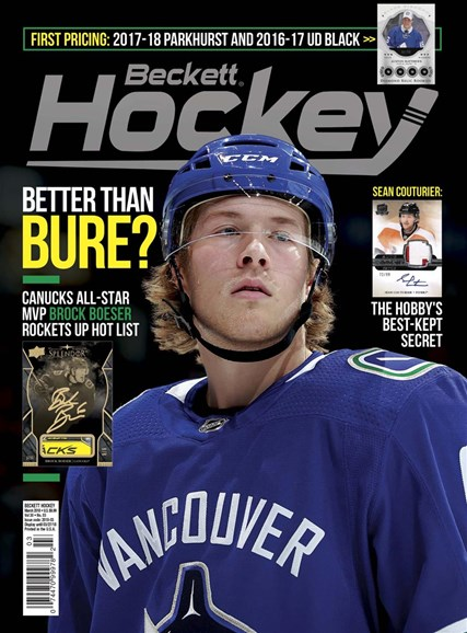 Beckett Hockey Cover - 3/1/2018